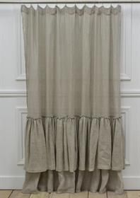 great shower curtain idea for claw foot tub enclosure