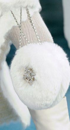 White fur handbag