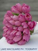 lila tulpen brautstrauss