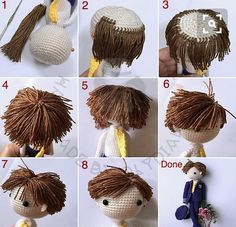 Amigurumi bebeklerde saç nasıl yapılır ? Anlatımlı