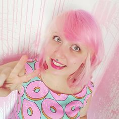 Have an awesome Sunday ✌ PS. Get your questions ready - live Q&A tomorrow… Hair Donut, Unicorn Hair, Bubblegum Pink, Pink Hair, Hair Goals, Ps, You Got This, Curls, Sunday