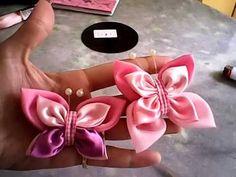 como fazer borboleta de circulos de tecido, com juliana souza - YouTube