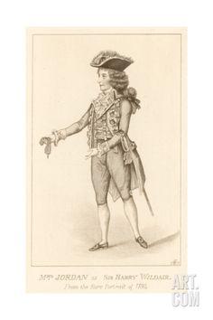 Mrs Jordan as Sir Harry Wildair from the Rare Portrait of 1788 Giclee Print at Art.com