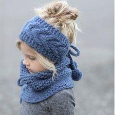 vinchas tejidas a dos agujas para niña Baby Knitting, Crochet Baby, Knitted Hats, Diy And Crafts, Hair Makeup, Winter Hats, Sewing, Womens Fashion, How To Make