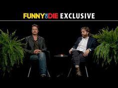 ▶ Between Two Ferns with Zach Galifianakis: Brad Pitt - YouTube -- so funny!!!