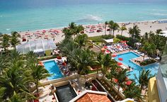 Prime oceanfront North Miami real estate with loads of top notch amenities for kids of all ages at Acqualina Resort Luxury Beach Resorts, Hotels And Resorts, Destin Beach, Resort Spa, Swimming Pools, Around The Worlds, Real Estate, Miami Florida, Mansions