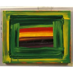 Howard Hodgkin - Indian Sky I have a copy of this on my wall. Art, like music, you can't always say why you love it, you just do.. Touches the soul.