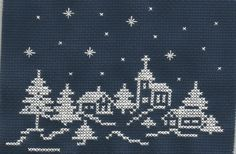 Trees Christmas cross stitch.