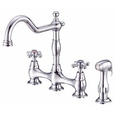 Danze Opulence Chrome 2-Handle High-Arc Kitchen Faucet with Side Spray