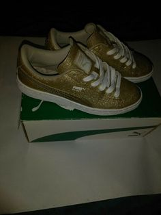 free shipping be67a e77c8 PUMA GIRLS SIZE 4 Gold and white  fashion  clothing  shoes  accessories   kidsclothingshoesaccs  girlsshoes (ebay link)