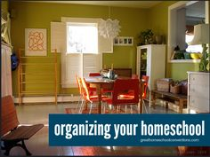 Ideas for organizing your homeschool space