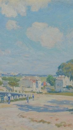 Watering Place at Marly, Painting by Alfred Sisley Acid Wallpaper, Graphic Wallpaper, Aesthetic Iphone Wallpaper, Aesthetic Wallpapers, Aesthetic Painting, Aesthetic Art, Homescreen Wallpaper, Iphone 3, Photo Wall Collage