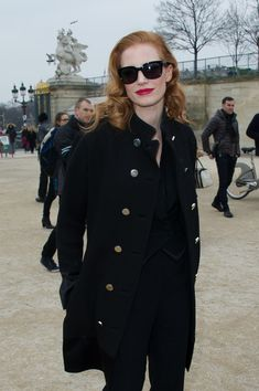 Jessica Chastain Photo - Ulyana Sergeenko arrives at Viktor and Rolf collection show for Paris Fashion Week