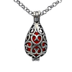 Hollow Heart, Diffuser Necklace, Heart Locket, Essential Oil Diffuser, Aromatherapy, Charms, Pendant Necklace, Amazon, Jewelry
