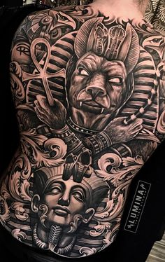 Top 50 Badass Tattoo Ideas And Designs For Men - My list of the most creative tattoo models Tattoos For Guys Badass, Back Tattoos For Guys, Full Back Tattoos, Chest Piece Tattoos, Pieces Tattoo, Chest Tattoo, Back Piece Tattoo Men, Tattoo Arm, Forearm Tattoos