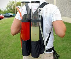 Not since the Kool-Aid Man walked the streets has drink dispensing been so portable. The Dual Drink Backpack allows you to easily carry around refreshments and refill drinks, making you the go to guy for keeping the party alive and kicking.