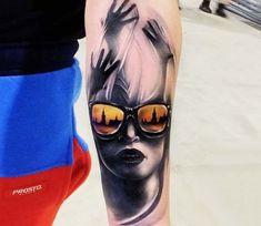 Face tattoo by Bejt Tattoo