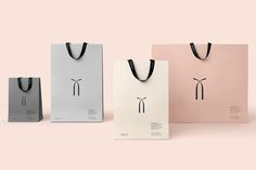 Logo, packaging and stationery by UK based graphic design studio SocioDesign for Chinese high-fashion accessory brand Twice. Opinion by Richard Baird