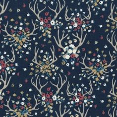 Dear Stella House Designer - Enchanted - Antlers in Navy