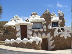 Icing House in Fuerteventura, Spain. The house gives the look of some kind of tasty dessert.