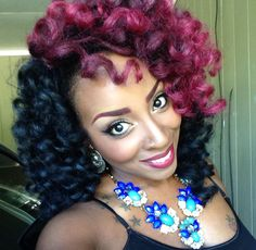 Love This.....Ima need her to do a quick tutorial!!! Super Cute Crochet Marley hair