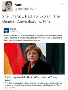 Sadly, I completely believe she had to do this! (puts head on desk & sighs) Unqualified disaster: Donald Trumpet,