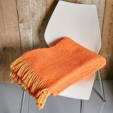 Orange Lines Eco Wool Throw