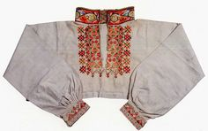FolkCostume&Embroidery: East Telemark, Norway, embroidered shirts for Raudtrøye and Beltestakk Bridal Crown, Embroidered Shirts, Norway, Costumes, Embroidery, Clothes, Folk Art, Patches, Inspiration