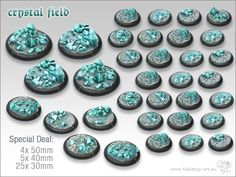 Image result for wargaming bases with crystals glowing
