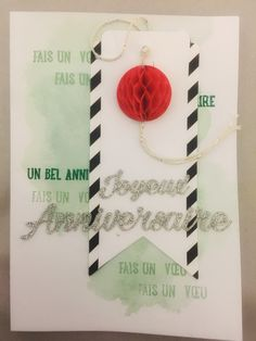 Carte Joyeux anniversaire kit Cartes Stampin up