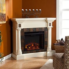 Faux Slate Convertible Corner or Flat Wall Electric Fireplace - Ivory FurnitureMaxx http://www.amazon.com/dp/B008YM78GK/ref=cm_sw_r_pi_dp_owHwwb1C2JN5B