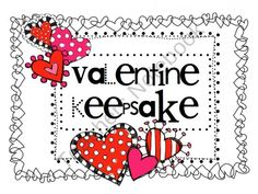 FREE Valentine Keepsake product from Caught-in-the-Middle on TeachersNotebook.com