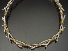 Sana Doumet - Bird's Nest Necklace / 18k gold & sterling silver