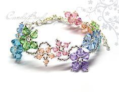 Pulsera de cristal de Swarovski pulsera de Flora por candybead