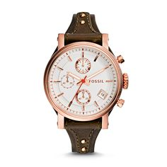 b255c01ea50 Fossil Original Boyfriend Chronograph Leather Watch - Raisin ES3616