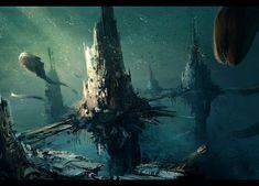 Výsledek obrázku pro underwater city concept
