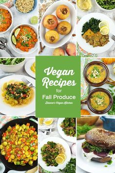 Autumn produce in season right now includes hearty winter squash, crisp apples Top Recipes, Fall Recipes, My Favorite Food, Favorite Recipes, Fall Vegetables, Vegan Comfort Food, Vegan Kitchen, Apple Crisp, Fall Food
