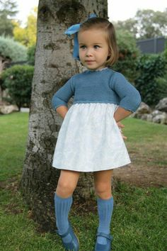 two tone toddler dress Toddler Girl Outfits, Baby & Toddler Clothing, Toddler Fashion, Toddler Dress, Baby Outfits, Baby Dress, Kids Fashion, Lucy Fashion, Little Girl Fashion