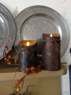 Prim Candles & Fixins' - Flameless Candles - Saltbox Primitives