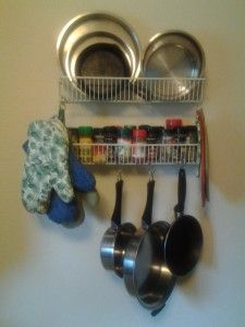 Kitchen Space Saver - These ideas are brilliant and will be implemented as some variation in our tiny kitchen.