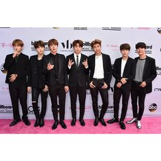 BTS at the Billboard Music Awards 2017 Halsey, The Chainsmokers More... ❤ liked on Polyvore featuring bts