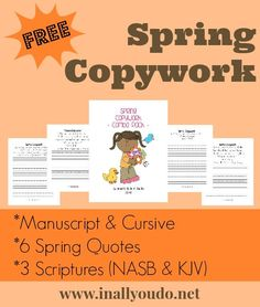 Spring Copywork: Quotes & Scripture {freebie} - In All You Do