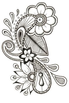 Images For > Paisley Skull Tattoo Paisley Tattoo Design, Paisley Lace Tattoo, Paisley Drawing, Paisley Art, Mandala Drawing, Mandala Tattoo, Doodle Art Designs, Henna Designs, Tattoo Designs