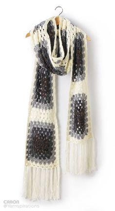 Super Granny Crochet Scarf Super Scarf - Patterns | Yarnspirations | Super…: