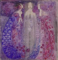 Margaret Macdonald Mackintosh (Scottish, 1865-1933). The Three Perfumes. 1912.