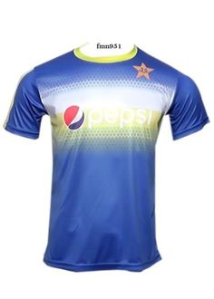 Pakistan Cricket Team Half Sleeve Practice Jersey T-Shirt With All Logos(XlLM)