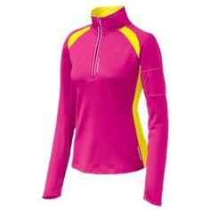 Brooks Nightlife Infiniti 1/2 Zip - Women's - Running - Clothing - Brite Pink/Nightlife
