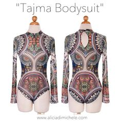 "New addition to the Tattoo Series - ""Tajma Bodysuit""  SHOP: http://ift.tt/1rNgIir  CODE: ""FREESHIP"""