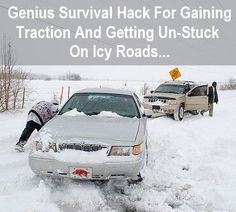 This survival hack is so simple, but you'd probably never think of it if you get stuck on an icy road. Find out more...