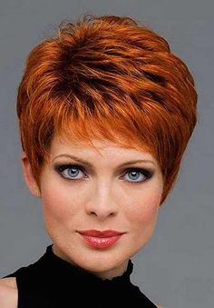 Very Short Hairstyles For Women Over 50 With Golden Brown Color